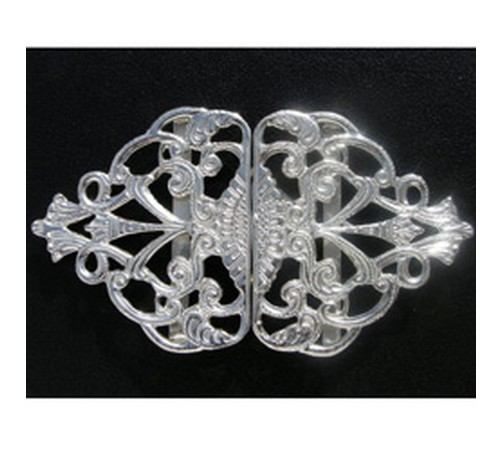 solid hallmarked silver nurses buckle