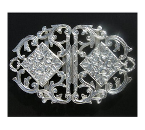 sterling hallmarked silver nurses buckle
