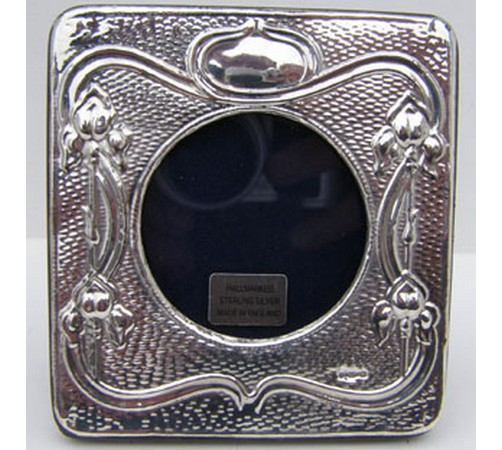 hallmarked silver photo frame in art nouveau style