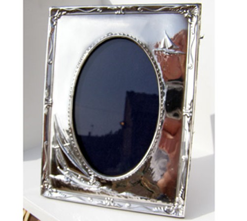 hallmarked silver sailing yacht photo frame