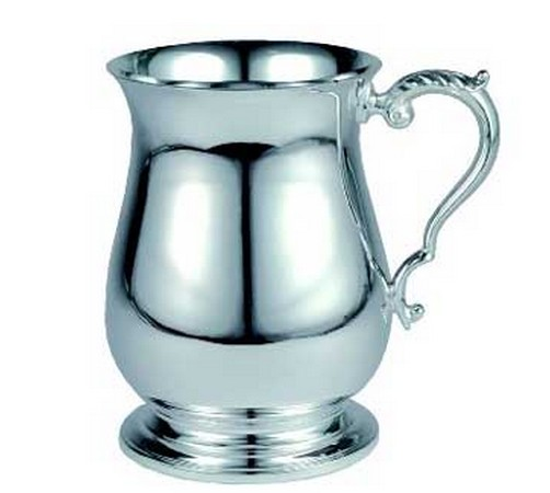silver plated one pint georgian tankard