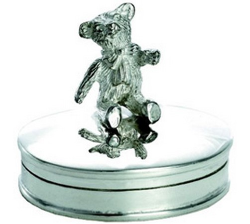 silver teddy bear tooth fairy box