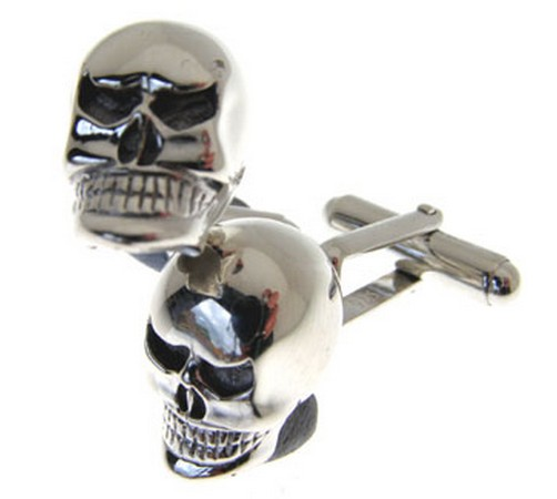 hallmarked sterling silver skull cufflinks with large heavy skulls