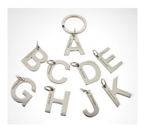 hallmarked silver initial letter keyrings