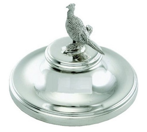 hallmarked silver paperweight with animal or bird figures