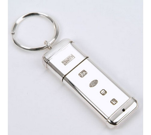 Hallmarked Silver Memory Stick or Flash Drive 16GB