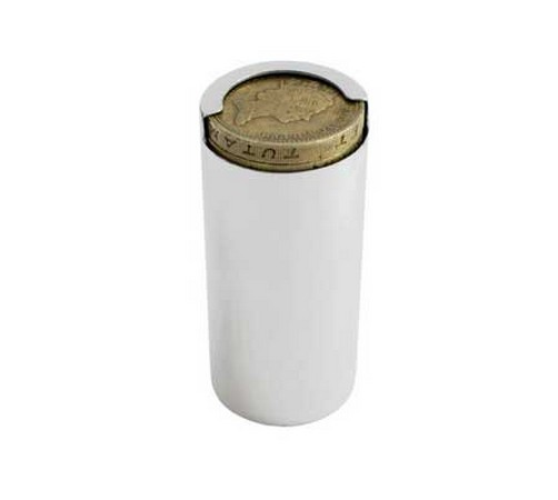 solid silver one pound coin holder tube. to fit the new pound coin