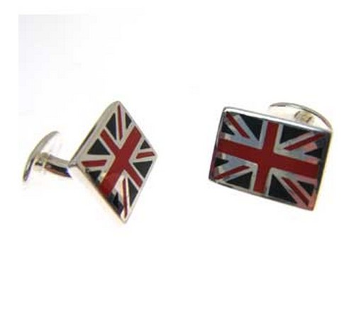 hallmarked silver union jack cufflinks