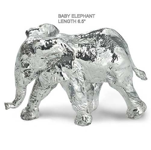 hallmarked silver model of a baby elephant