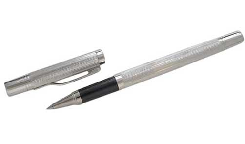 the earl range. english made silver rollerball pen
