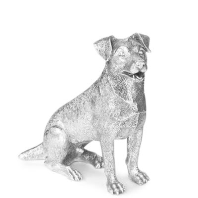 Hallmarked Sterling Silver Figurine of a Jack Russell