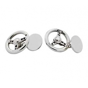silver hallmarked steering wheel cufflinks
