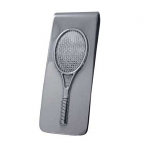 hallmarked silver tennis theme money clip