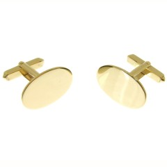 9 carat gold swivel style cufflinks