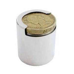 hallmarked silver one pound coin holder. to fit the new coin