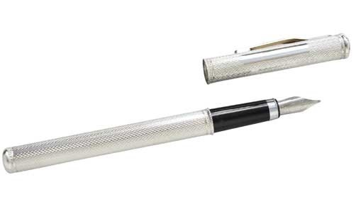 english made silver fountain pen from the pulse range