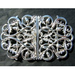 hallmarked silver nurses buckle