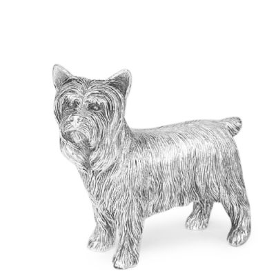 Hallmarked Sterling Silver model of a Yorkshire Terrier