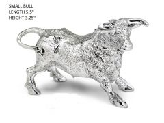 Hallmarked Silver Small Figurine of a Bull