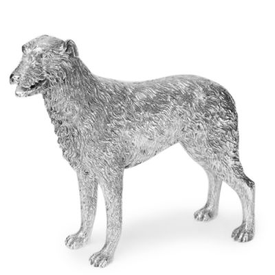 Sterling Silver Figure of an Irish Wolf Hound