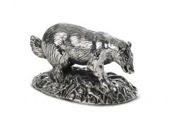 Hallmarked Silver Miniature Badger