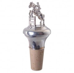 Orders + Design + Marketing + Sterling Silver Bottle Top with Jumping Horse