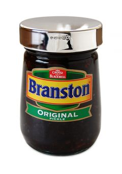 Hallmarked Silver Branston Pickle Jar