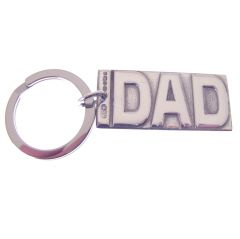 Sterling Silver DAD Key Ring
