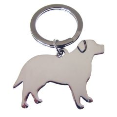 Silver Labrador Dog Key Ring