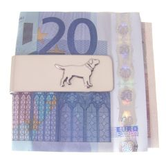 Solid Silver Dog Theme Money Clip