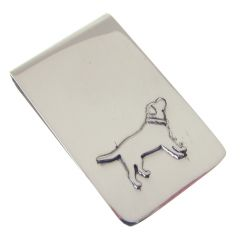 Sterling Silver Dog Theme Money Clip