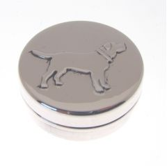 Hallmarked Silver Dog Pill Box