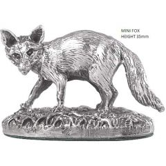Hallmarked Silver Miniature Fox Figure