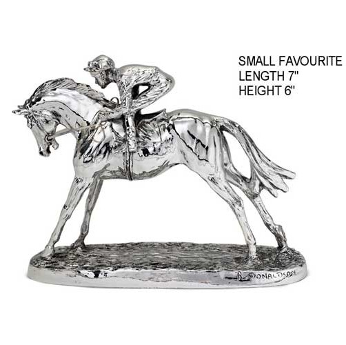 hallmarked silver horse figure. derby day at ascot