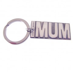 Sterling Silver MUM Key Ring
