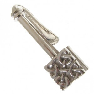 hallmarked sterling silver celtic napkin hook