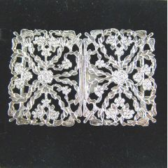 Hallmarked Sterling Silver Nurses Buckle Flower Design