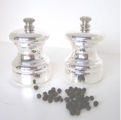 Silver Plated Pepper or Salt Grinders 7cm tall
