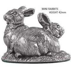 Hallmarked Silver Miniature Rabbit Model