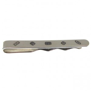 sterling silver tie slide with feature hallmark