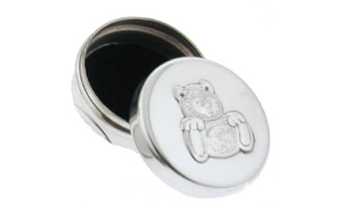 sterling silver teddy bear box hallmarked