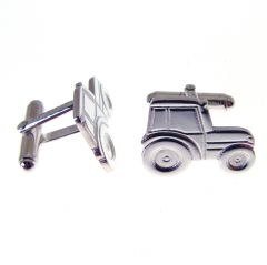 Hallmarked Silver Tractor Cuff Links