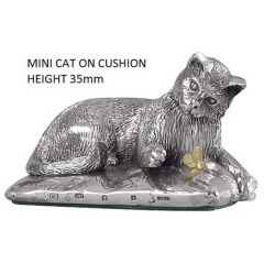 Mini Hallmarked Silver Cat or Kitten Figure