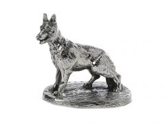 Miniature Hallmarked Silver Alsatian Model