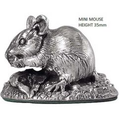 Hallmarked Silver Miniature Mouse Model