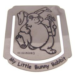 Small Hallmarked Silver Rabbit Bookmark