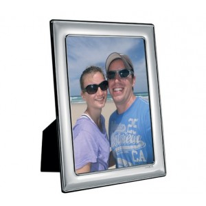 silver picture frame with 7 inch x 5 inch sight area