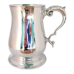 Solid Silver One Pint Georgian Tankard
