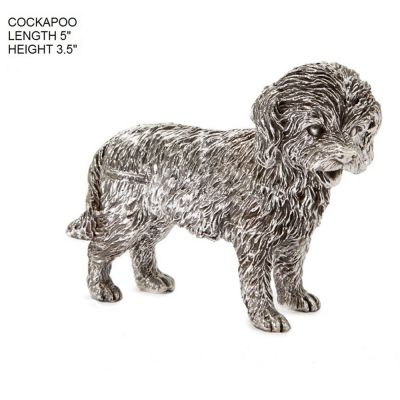 Hallmarked Silver Cockapoo Dog Figurine