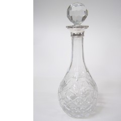 Hallmarked Silver Cut Glass Port or Sherry Decanter